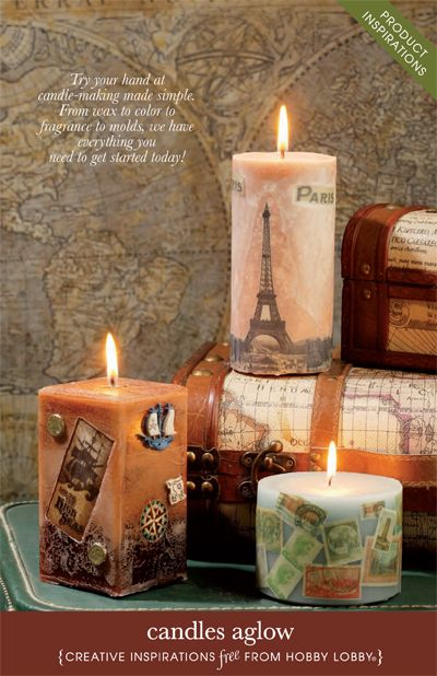 Pin by hobby lobby on diy ideas pinterest for Candle craft ideas