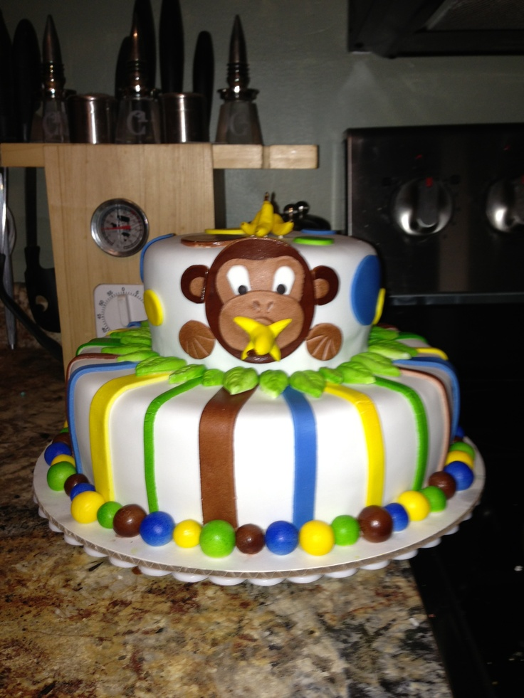 Monkey baby shower cake made by me! 50 Cakes of Gray m50cakesofgray@ ...