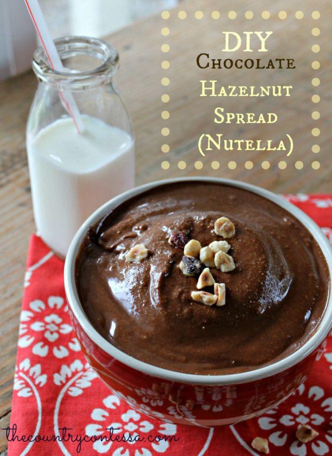 Homemade Chocolate Hazelnut Spread (Nutella!) » The Country Contessa