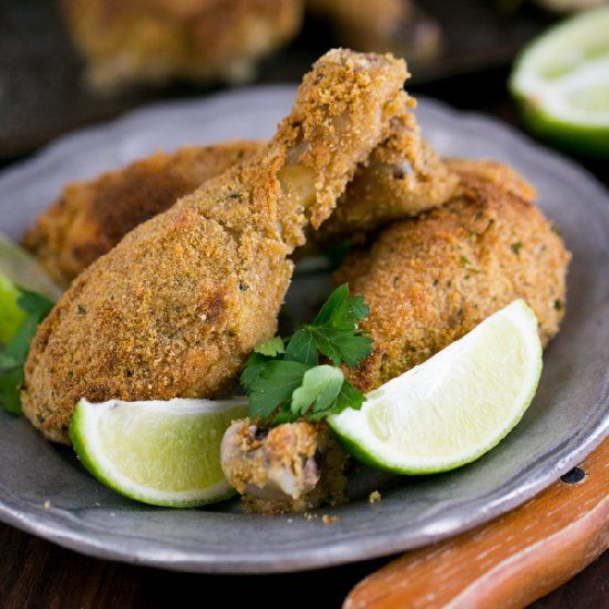 These breaded, baked chicken drumsticks are crunchy on the outside and ...