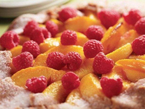 Peach and Raspberry Crostata