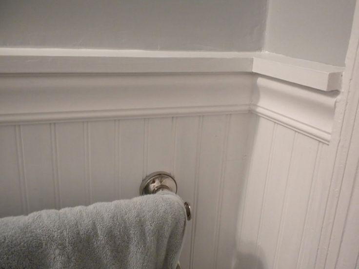 Bathroom chair rail home bathroom reno ideas pinterest for Bathroom chair rail ideas