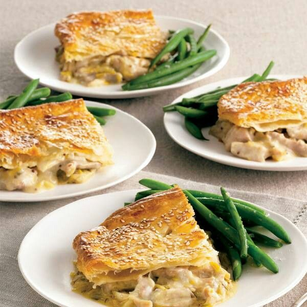 CHICKEN AND LEEK PIE | Food & Recipes | Pinterest