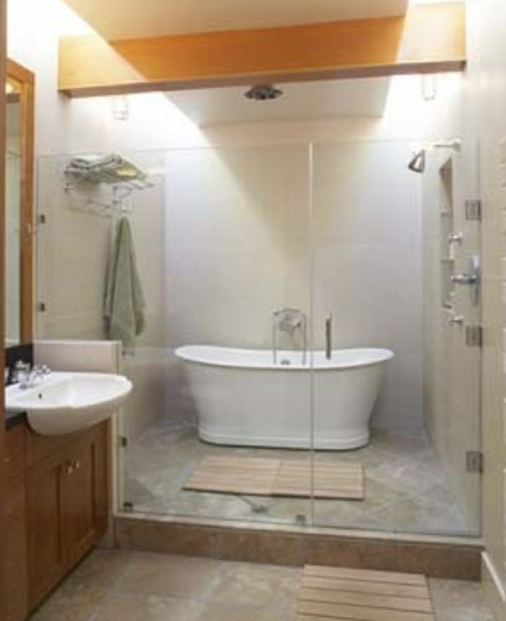 Shower tub wet room bathroom pinterest for Wet room or bathroom