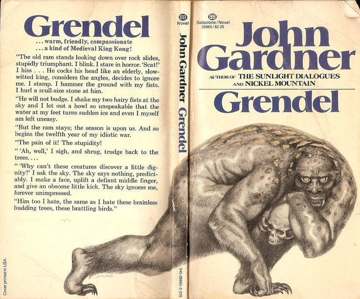 essays on beowulf and grendel The only difference between grendel's unferth and beowulf's unferth is the detail and depth to which his character is taken john gardner brought a relatively small character from beowulf , and made him the second most defined character in grendel.