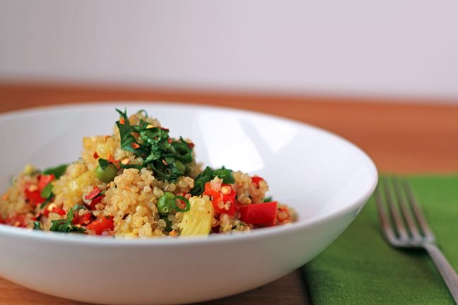 Pineapple fried quinoa - like fried rice but better. Trying this with ...