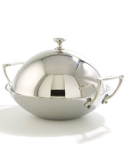 how to clean stainless steel wok
