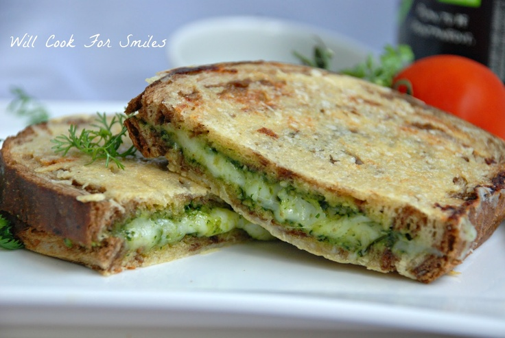 Will Cook For Smiles: Parmesan Crusted Pesto Grilled Cheese - MOM'Z ...