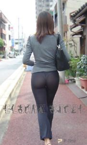 Sexy Women Long Semi See Through Sheer Pants Leggings Lingerie Flare