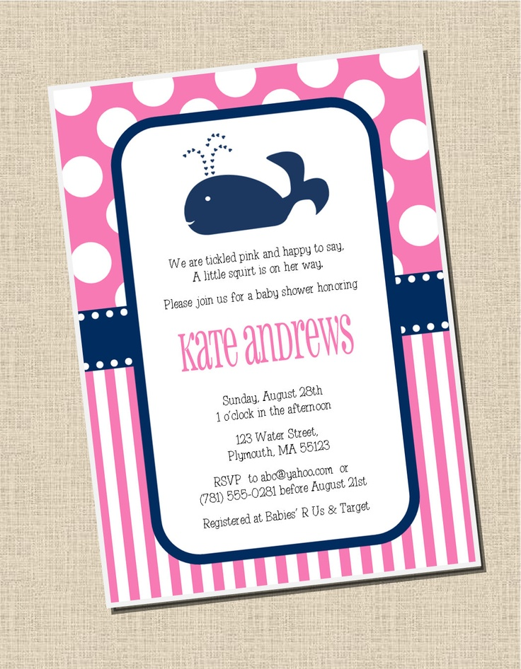 Preppy Whale Party Collection Printable by sweetpeachpaperie