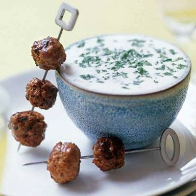Merguez Meatballs with Yogurt Sauce Recipe