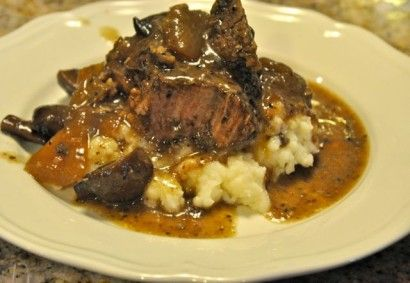 Crock pot beef and roast with onions and mushroom. I'm drooling just ...