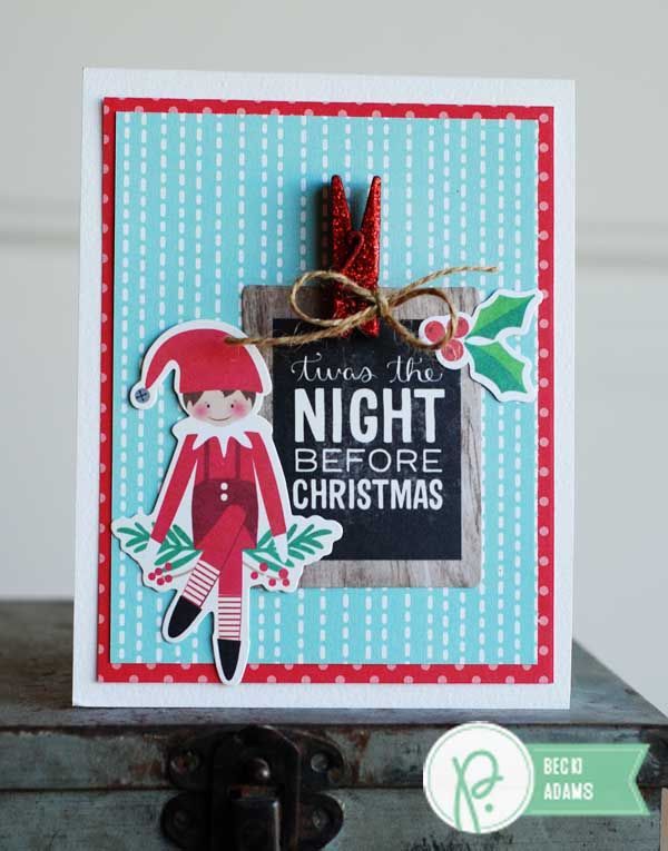 Gear up for the holidays with this darling Mini Clothespin Christmas Card Set by Becki Adams!
