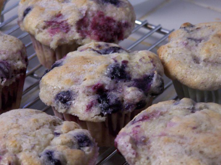 Sour Cream Blueberry Muffins | Recipe
