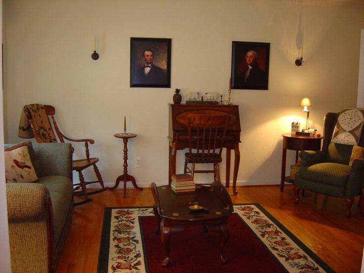 Living Room | Primitive & Colonial Love | Pinterest
