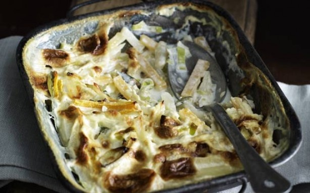 Swede, leek and potato gratin | yummy stuff | Pinterest
