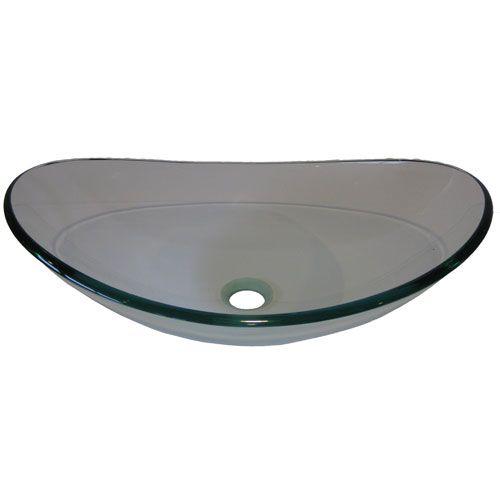 Clear Vessel Sink : ... Clear Slipper Glass Vessel Sink Novatto Vessel Bathroom Sinks Bath