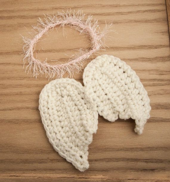 Crochet Pattern Angel Wings : crochet angel wings, newborn photo prop, baby angel wings ...