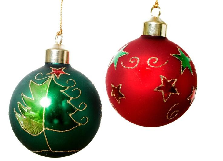 Green & red ornaments