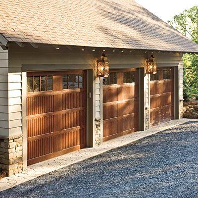 Craftsman style garage home craftsman style pinterest for Craftsman style garage
