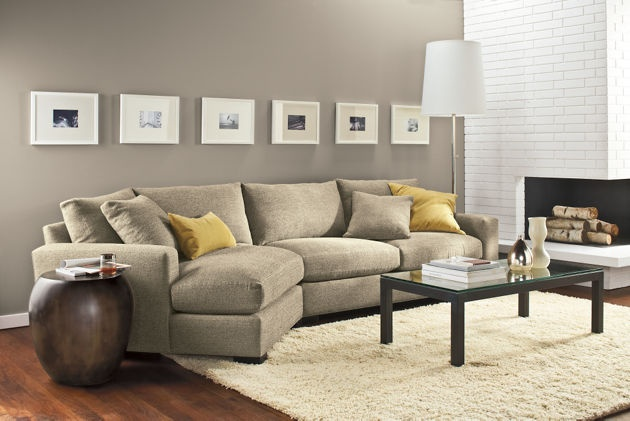 Metro sofa with angled chaise home sectional search for Angled chaise sofa