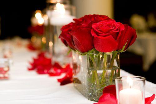 Simple rose centerpiece wedding ideas pinterest