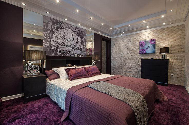 purple brown and grey bedroom bedrooms pinterest