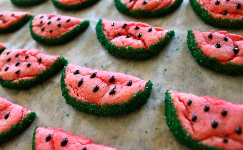 watermelon sugar cookies. these are so nostalgic- used to make these ...
