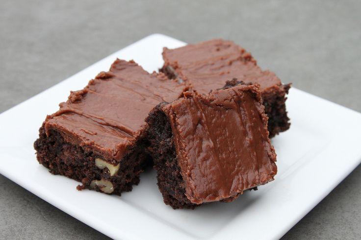fudge-brownies-with-nutella-frosting | gourmet | Pinterest