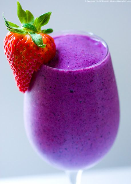 Banana berry smoothie | Yummy! | Pinterest