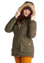 Tulle Clothing Scooter or Later Coat in Olive | Mod Retro Vintage Coats | ModCloth.com