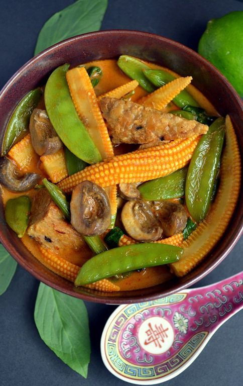 Thai Tempeh & Vegetable Red Curry | Save and organize your favourite ...