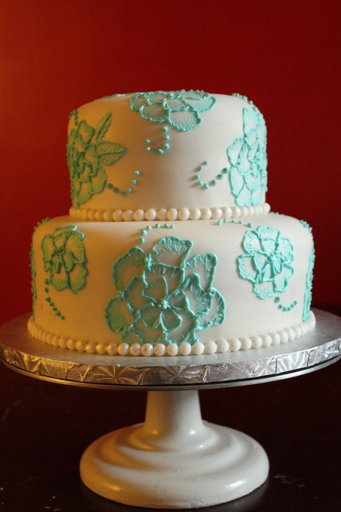 Brush Embroidery Cake  Cool Cakes  Pinterest