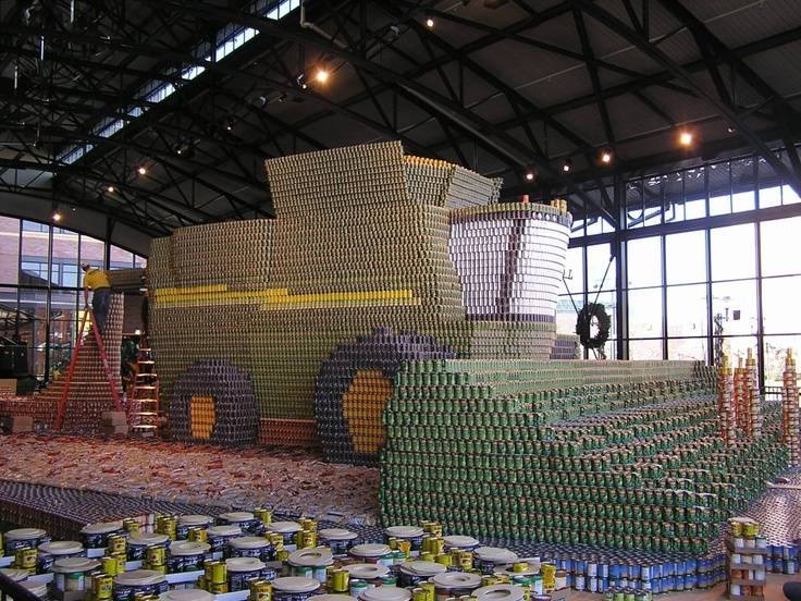 The CAN-DO Project by John Deere. A John Deere combine made entirely