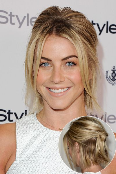 Julianne Hough's half-up knot