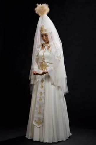 Казахская свадебная платья