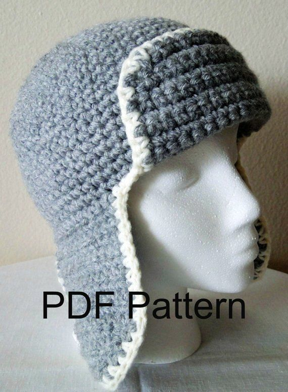 Free Crochet Pattern For Pilot Hat : Gallery For > Crochet Aviator Hat Adult