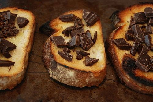 Rustic Bread With Dark Chocolate, Olive Oil, and Salt http://amenity ...