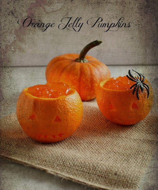 Orange Jelly Pumpkins ~ Vanilla Clouds and Lemon Drops