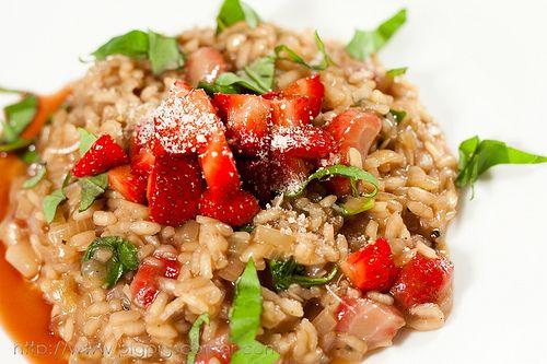 Strawberry Risotto with Balsamic Vinegar | kathy tommasini | Pinterest