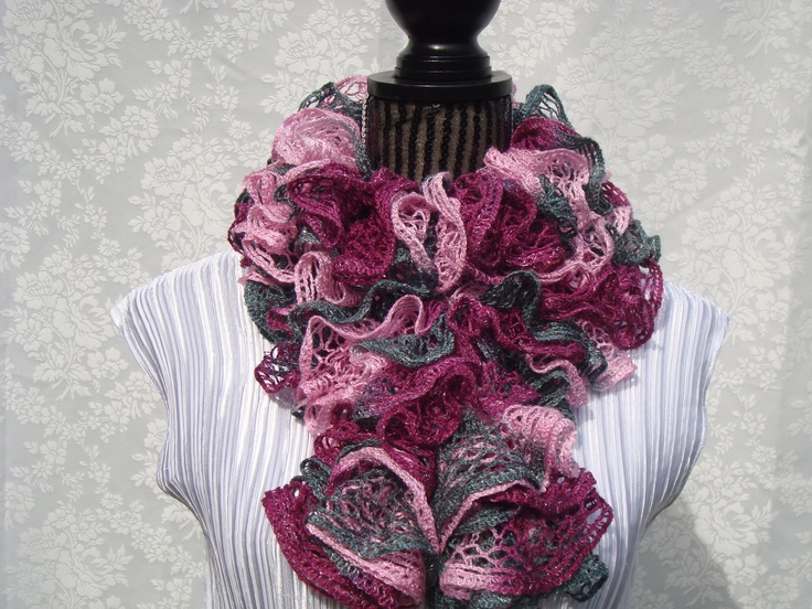 Crochet Ruffle Scarf Crochet & Knitting Projects Pinterest