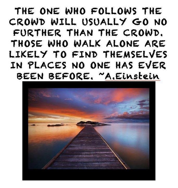 Follow the Crowd Albert Einstein Quotes