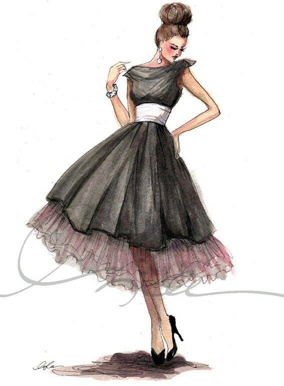 Рисовать девушек в платье