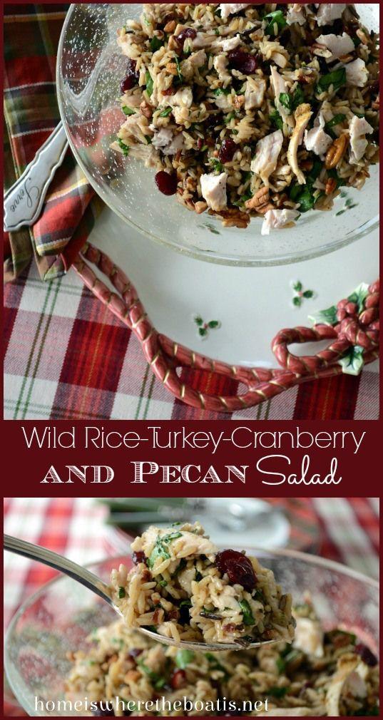 Wild Rice, Turkey, Cranberry and Pecan Salad..Wild Rice, Turkey ...