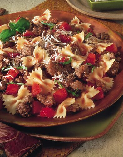 GArden tomato and beef pasta | food | Pinterest