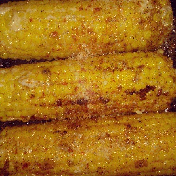 ... favorite! Roasted corn on the cob with paprika & Parmesan cheese
