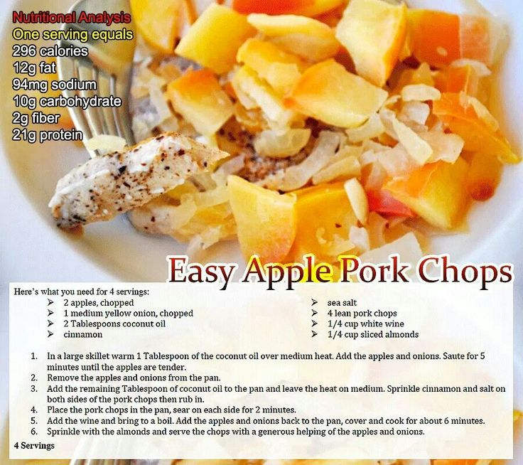 Easy Apple Pork Chops Recipe — Dishmaps