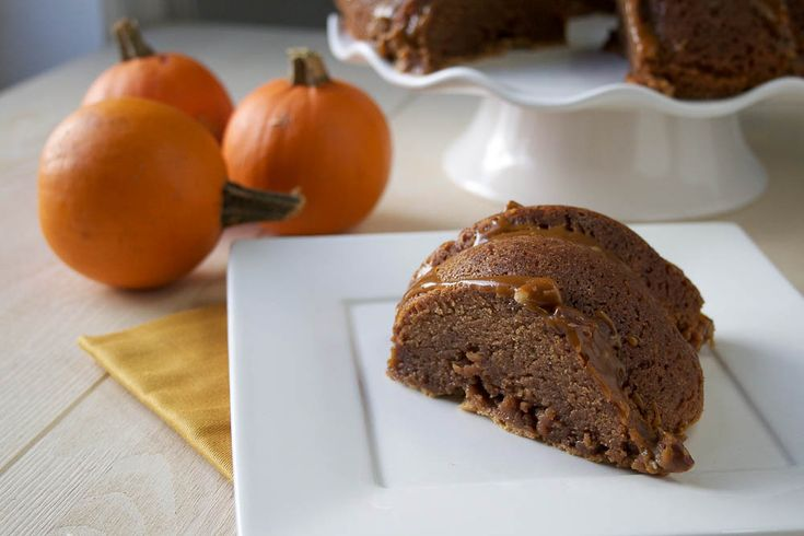 Pumpkin Nutella Pound Cake with Maple Pecan Glaze from La Phemme ...