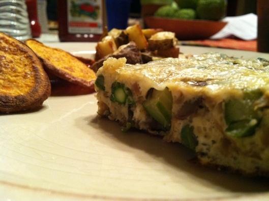 Asparagus Frittata With Horseradish Sour Cream Recipe — Dishmaps