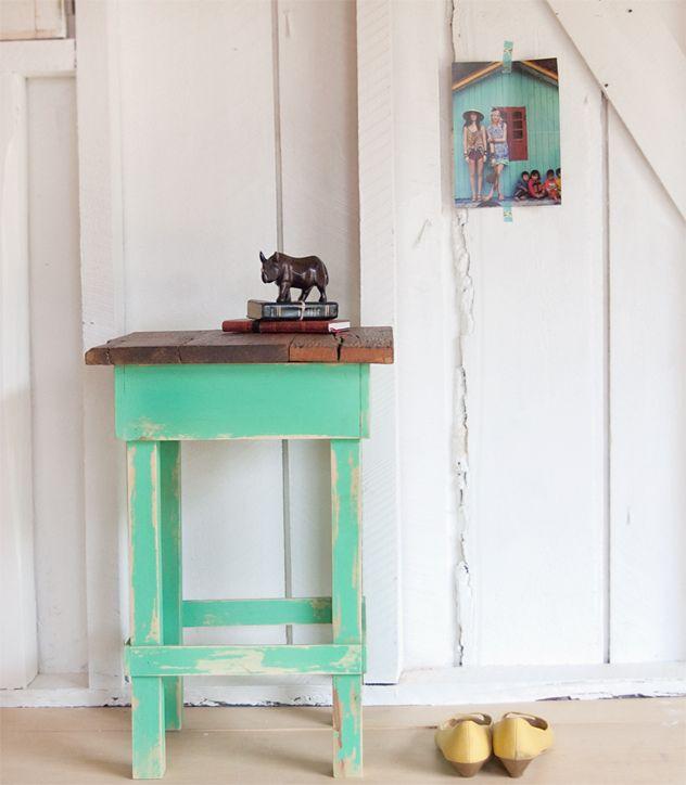DIY? Mint Green Side Table